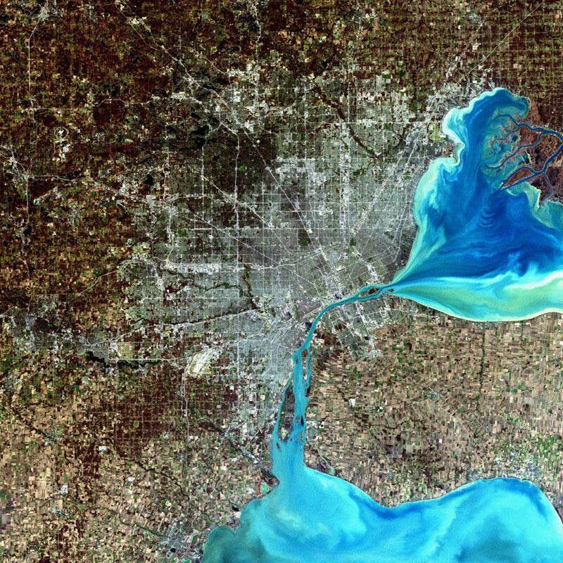 Large Detroit Landsat