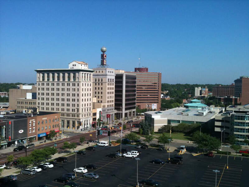 Downtown Flint Michigan Taken From Genesee Towers