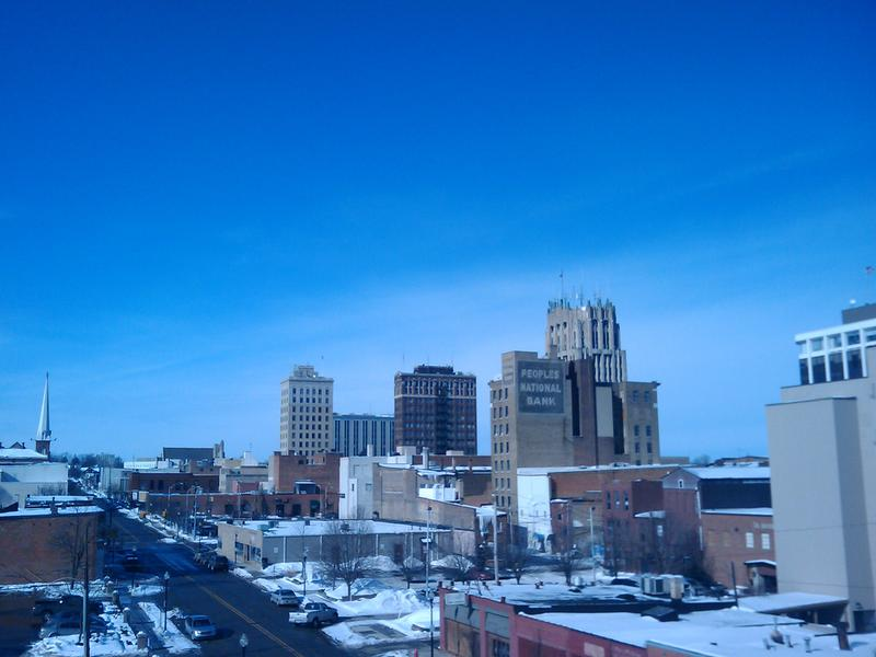 Downtown Jackson Michigan Skyline