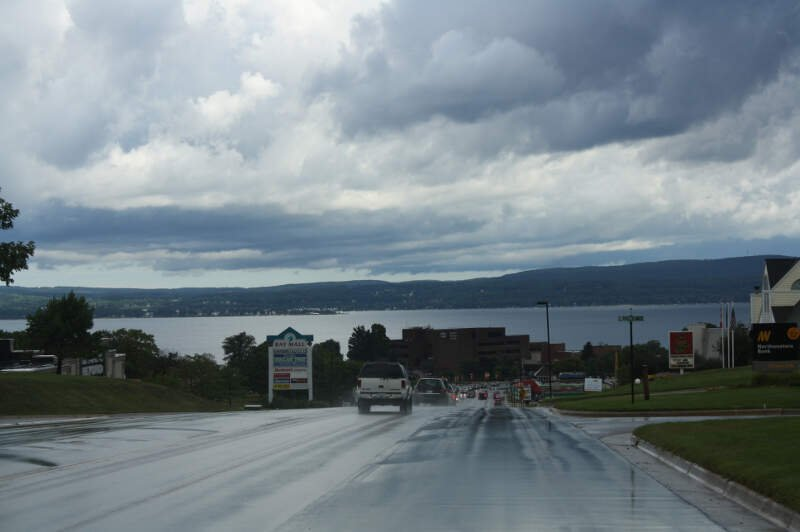 Petoskey Michigan Panorama Looking North Us
