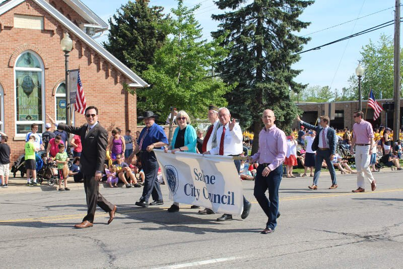 Saline City Council Members In The  Memorial Day Parade