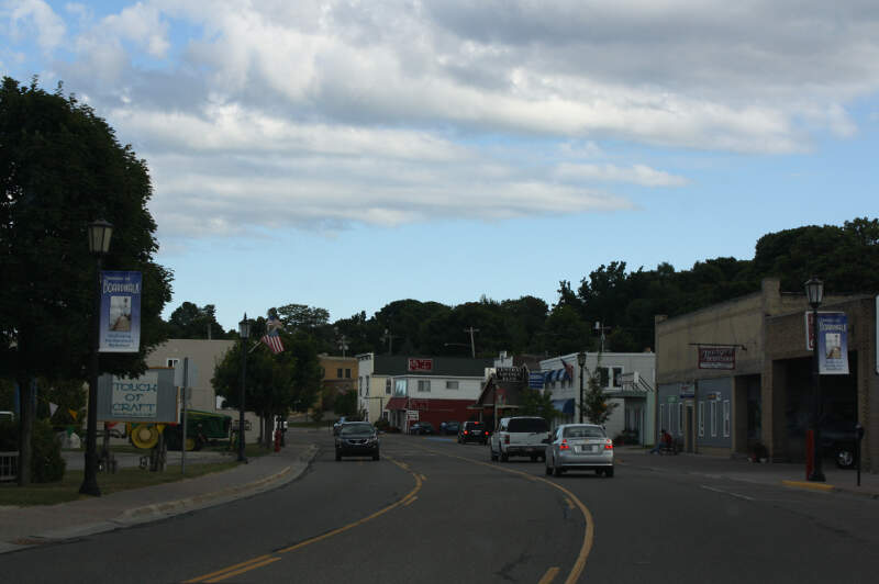 St Ignace Michigan Downtown Looking South