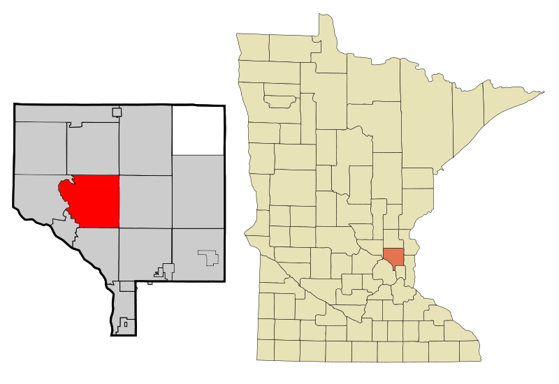 Anoka Cnty Minnesota Incorporated And Unincorporated Areas Andover Highlighted Copy
