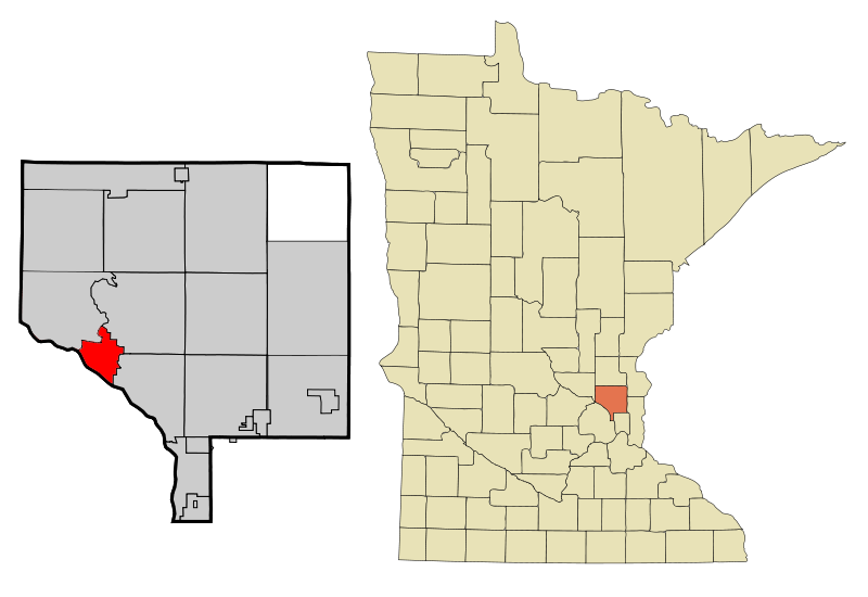 Anoka Cnty Minnesota Incorporated And Unincorporated Areas Anoka Highlighted