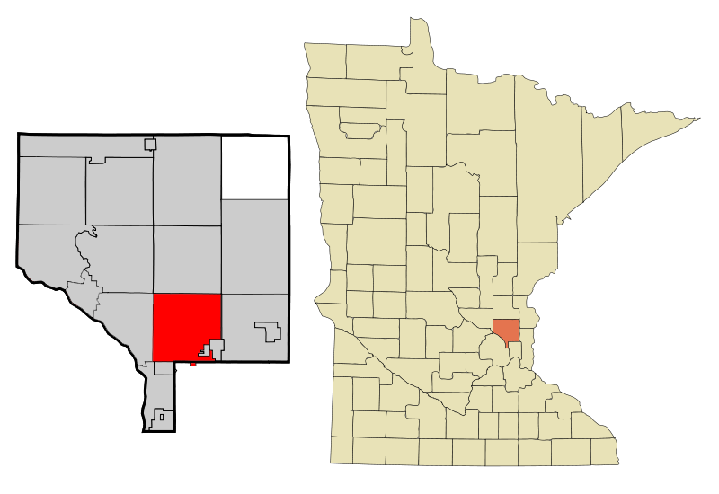 Anoka Cnty Minnesota Incorporated And Unincorporated Areas Blaine Highlighted Copy