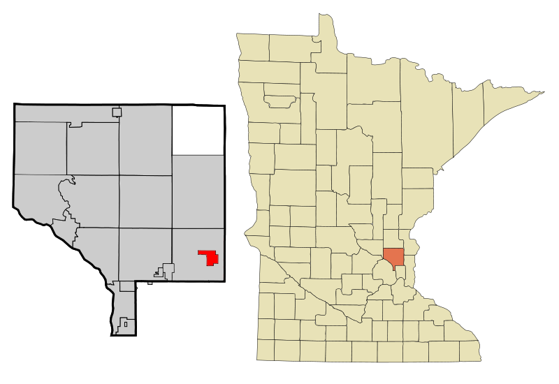 Anoka Cnty Minnesota Incorporated And Unincorporated Areas Centerville Highlighted Copy