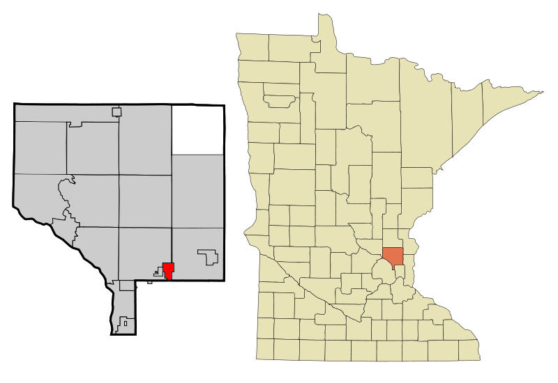 Anoka Cnty Minnesota Incorporated And Unincorporated Areas Circlepines Highlighted Copy