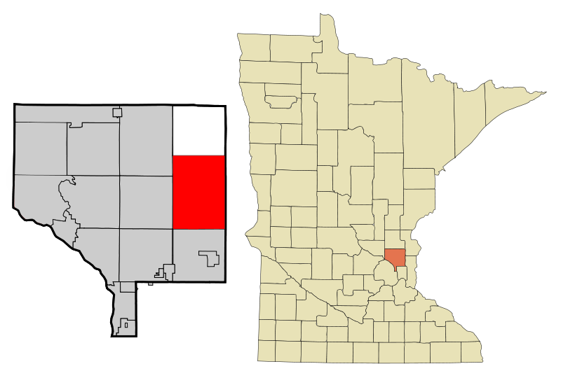 Anoka Cnty Minnesota Incorporated And Unincorporated Areas Columbus Highlighted