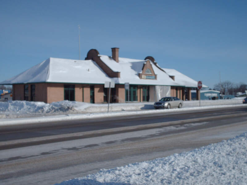 Historic Detroit Lakes Amtrak Depot In Winter