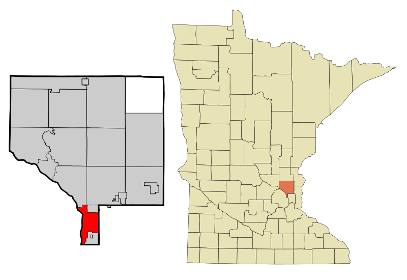 Anoka Cnty Minnesota Incorporated And Unincorporated Areas Fridley Highlighted