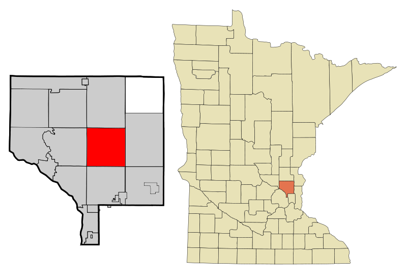 Anoka Cnty Minnesota Incorporated And Unincorporated Areas Hamlake Highlighted