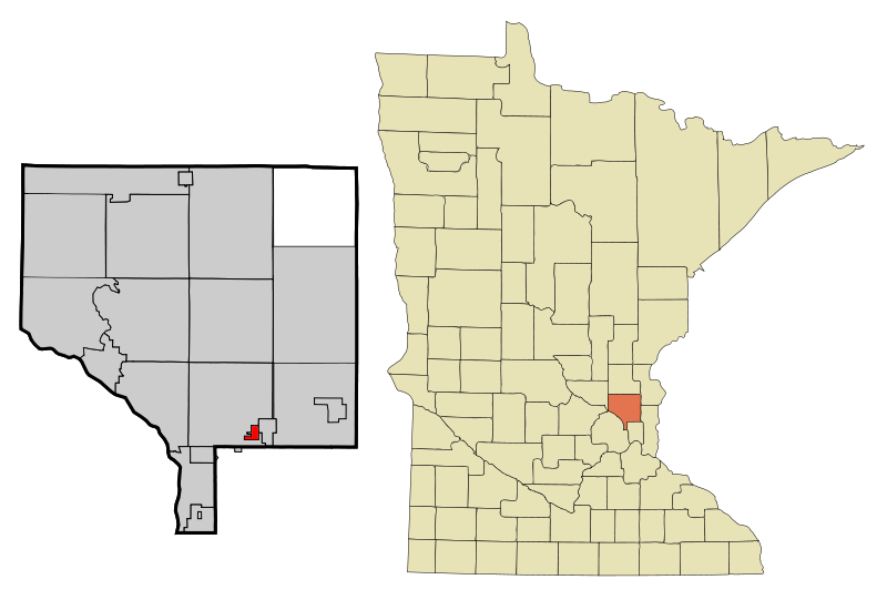 Anoka Cnty Minnesota Incorporated And Unincorporated Areas Lexington Highlighted