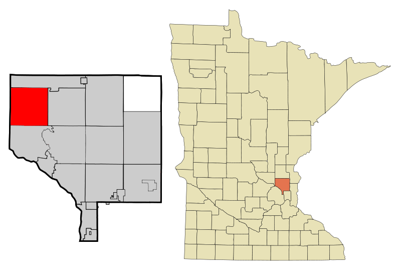 Anoka Cnty Minnesota Incorporated And Unincorporated Areas Nowthen Highlighted