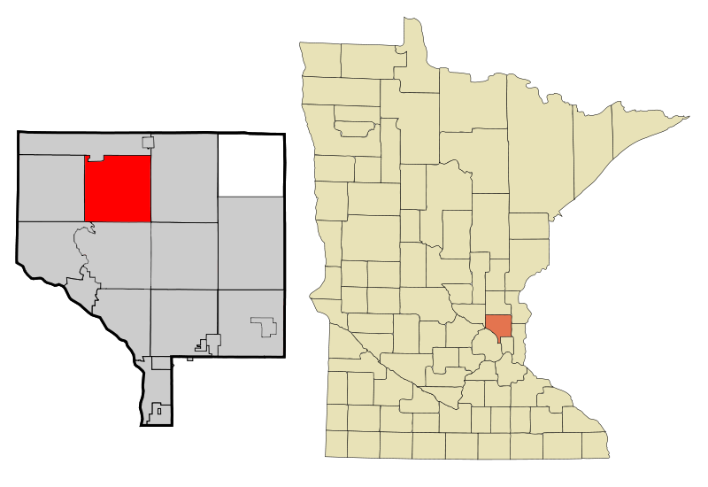 Anoka Cnty Minnesota Incorporated And Unincorporated Areas Oakgrove Highlighted