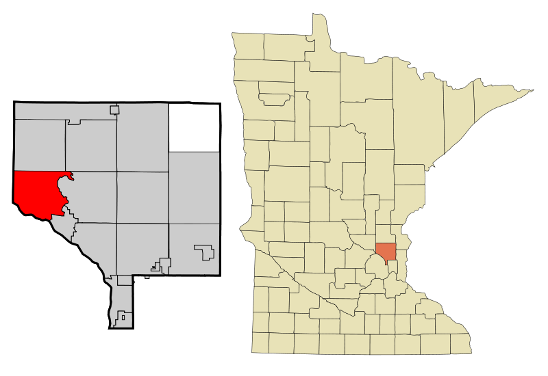 Anoka Cnty Minnesota Incorporated And Unincorporated Areas Ramsey Highlighted