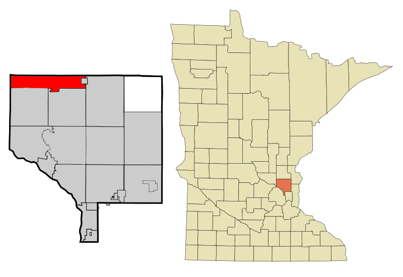 Anoka Cnty Minnesota Incorporated And Unincorporated Areas Stfrancis Highlighted