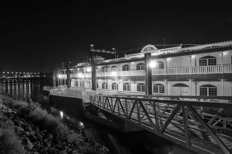 Minnesota Centennial Showboat At Nightc October