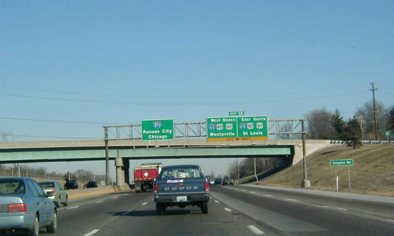 Interstate Approach I C Us  Us Exits  Town Countryc Missouric