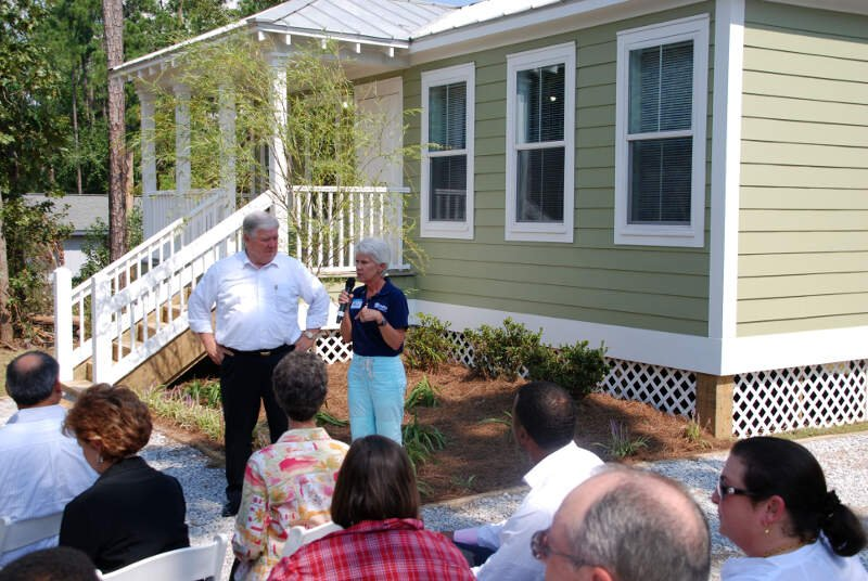 Fema      Open House For Permanent Mississippi Cottage