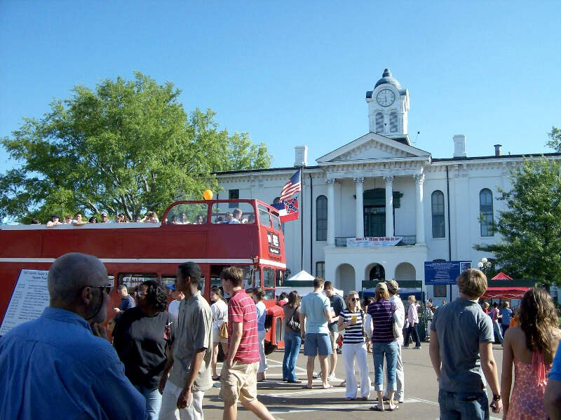 Lafayette Co Mississippi Courthouse During Double Decker Festival
