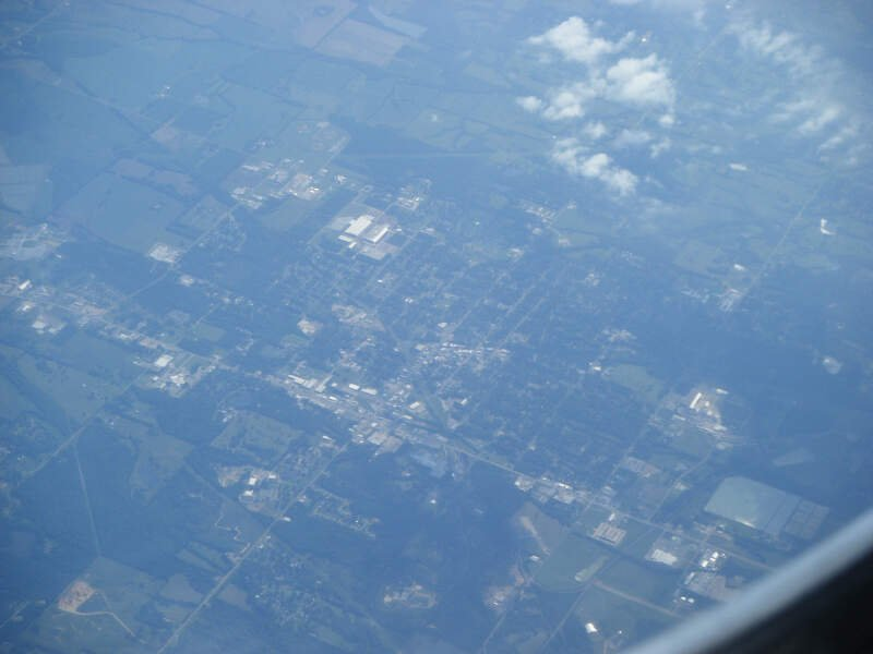 West Point Ms From Airplane