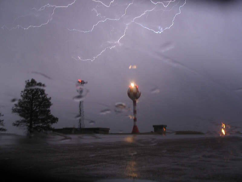 Lightning Over Billings Airport April