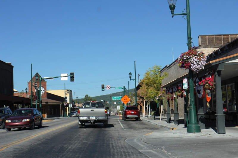Whitefish Montana Downtown Looking North Us