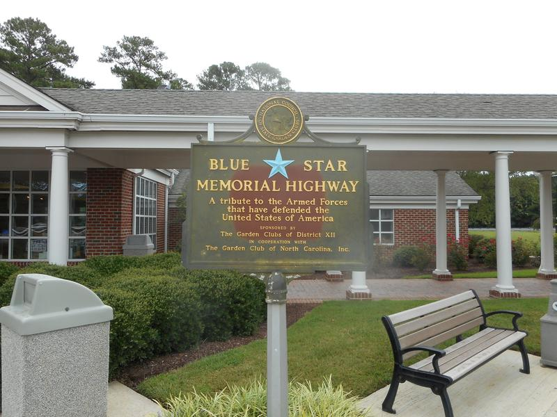 Sb I  Nc Welcome Ctr Blue Star Plaque