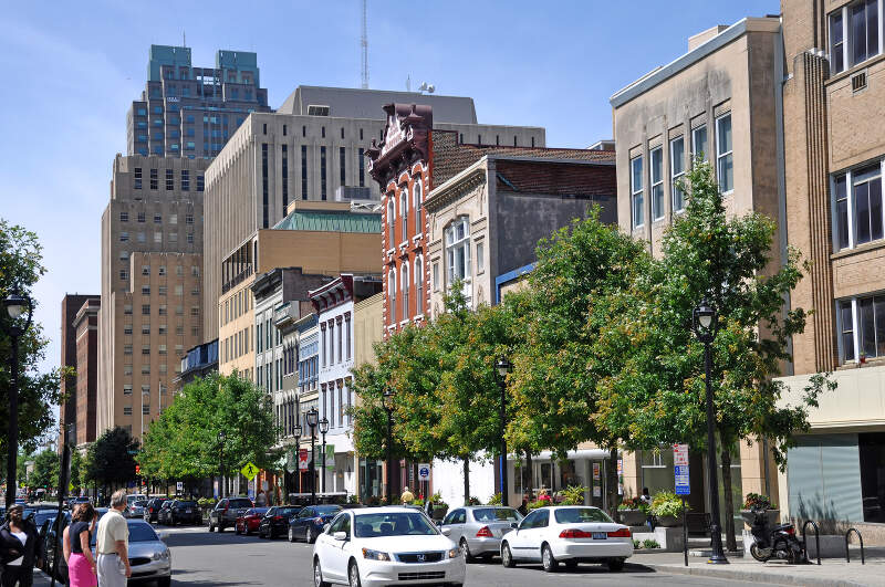 Fayetteville Street In Downtown Raleighc North Carolina
