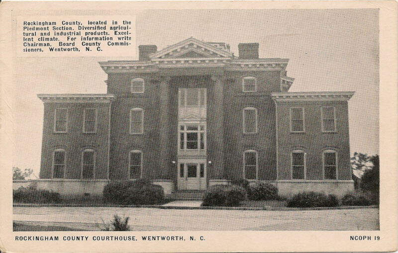 Rockingham County Courthouse In Wentworthc Nc Old Photo