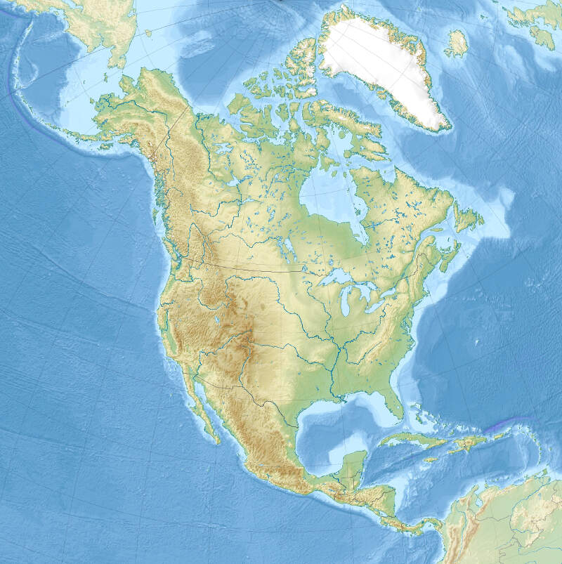 North America Laea Relief Location Map
