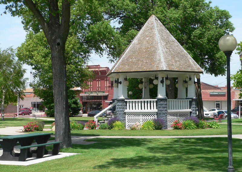 Broken Bowc Nebraska Bandstand From E