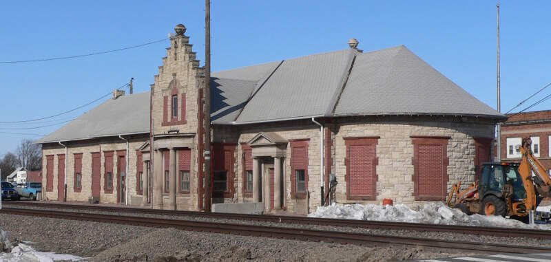 Columbusc Nebraska Rr Depot From Se