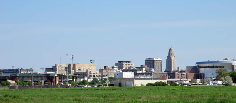 Skyline Of Downtown Lincolnc Nebraskac Usa