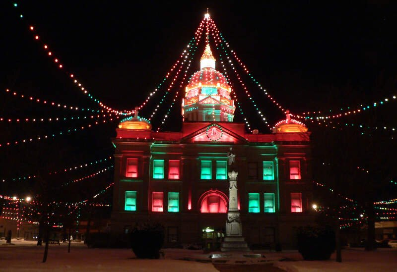 Kearney Countyc Nebraska Courthouse Lights