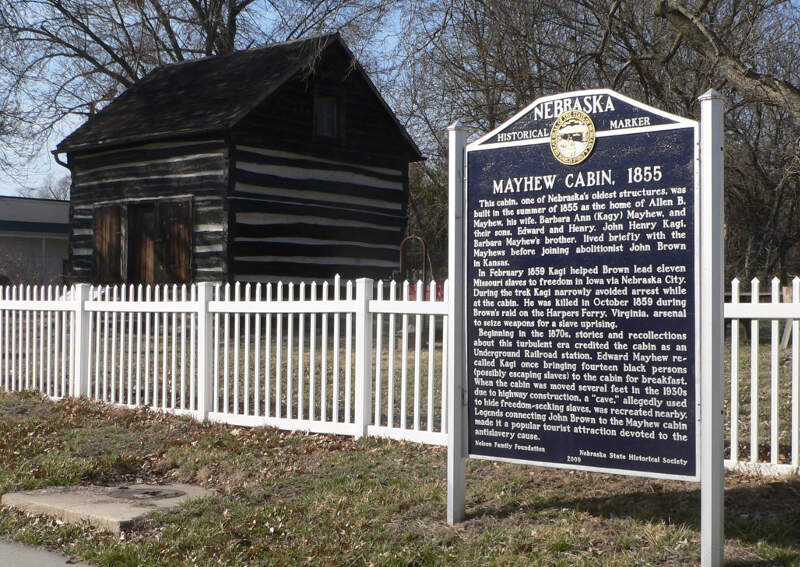 Mayhew Cabin And Marker From Se