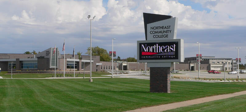 Northeast Community College Sign