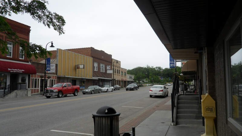 Downtown Papillionc Nebraska