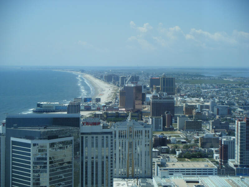 Atlantic City Skyline From Th Floor Of Revel
