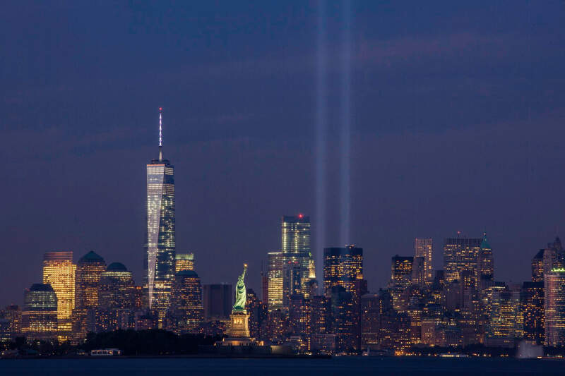 September Th Tribute In Light From Bayonnec New Jersey