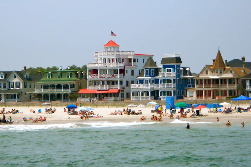 Cape May Beach Ave From The Sea