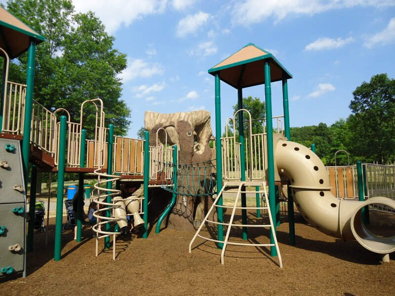 Childrens Outdoor Play Equipment In Park