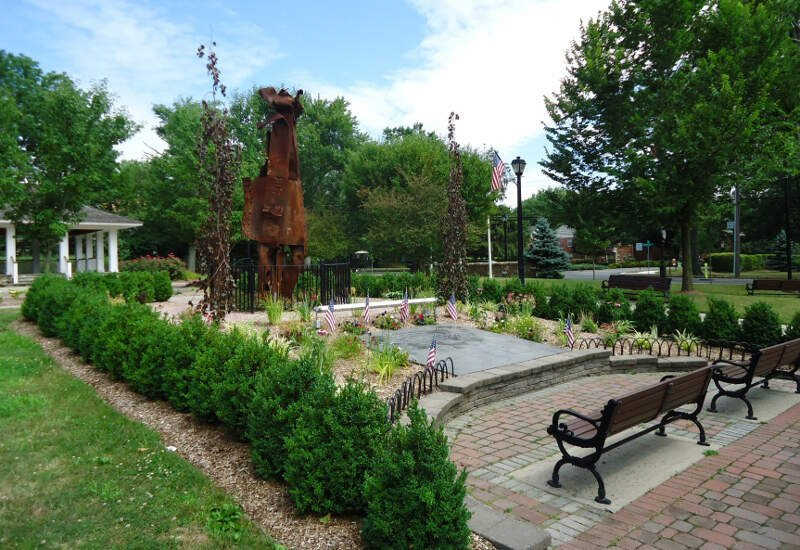 New Providence Nj Public Park With Pergola And Benches