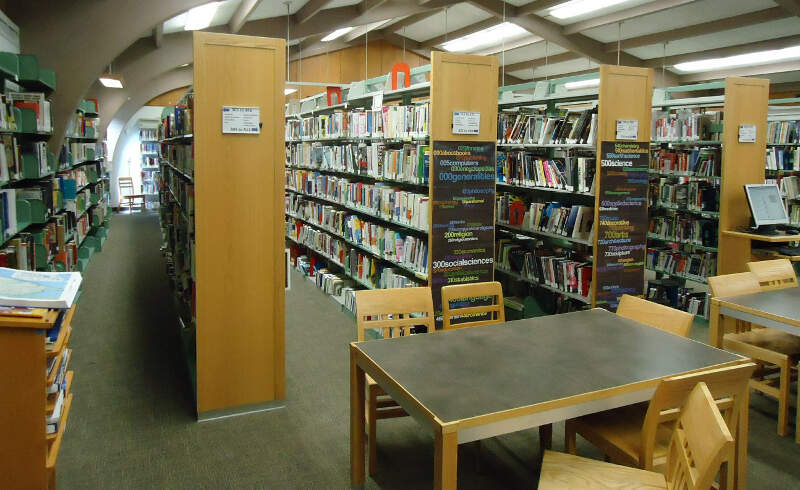 New Providence Nj Public Library Interior View Desks And Shelves
