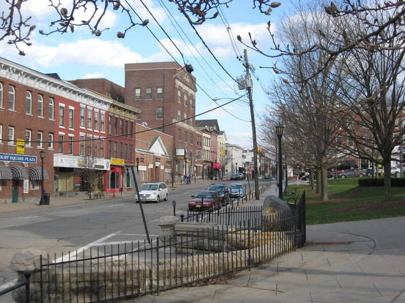 Spring Street Commercial District Seen From The Newton Town Green Newton Nj