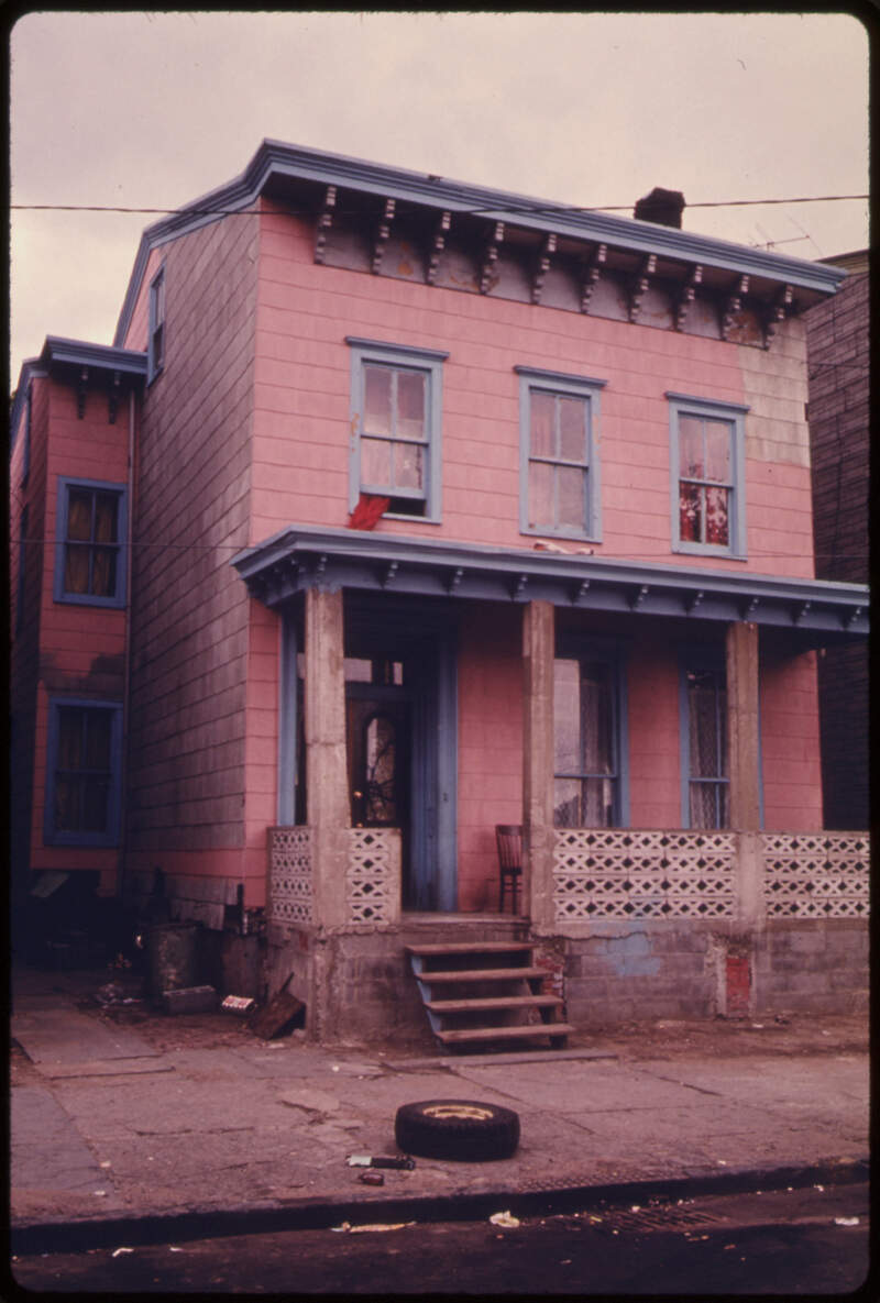 House In The Inner City Of Patersonc New Jersey