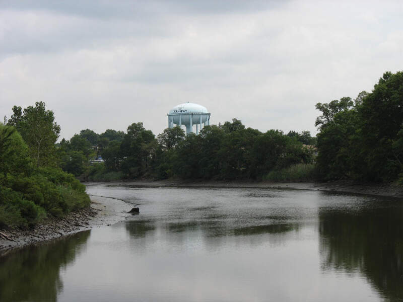 Rahway River And Water Tower