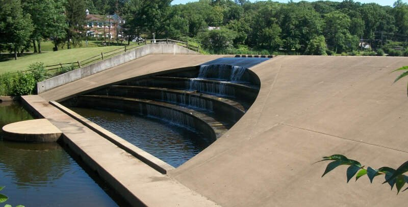 Cascading Dam Below Watchung Lakec Nj