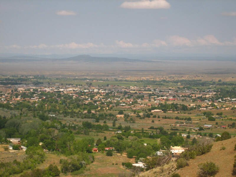 View Of Taosc Nm From Mountain Trail Picture