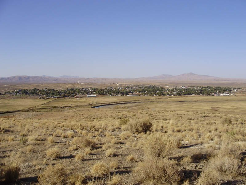 View Of Carlin In Nevada From The South Side Of The Humboldt River